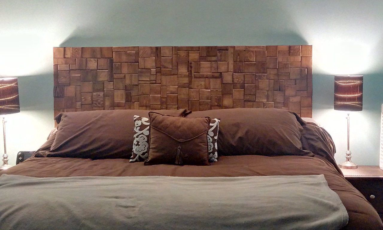 The Final Product. Pallet Wood Headboard
